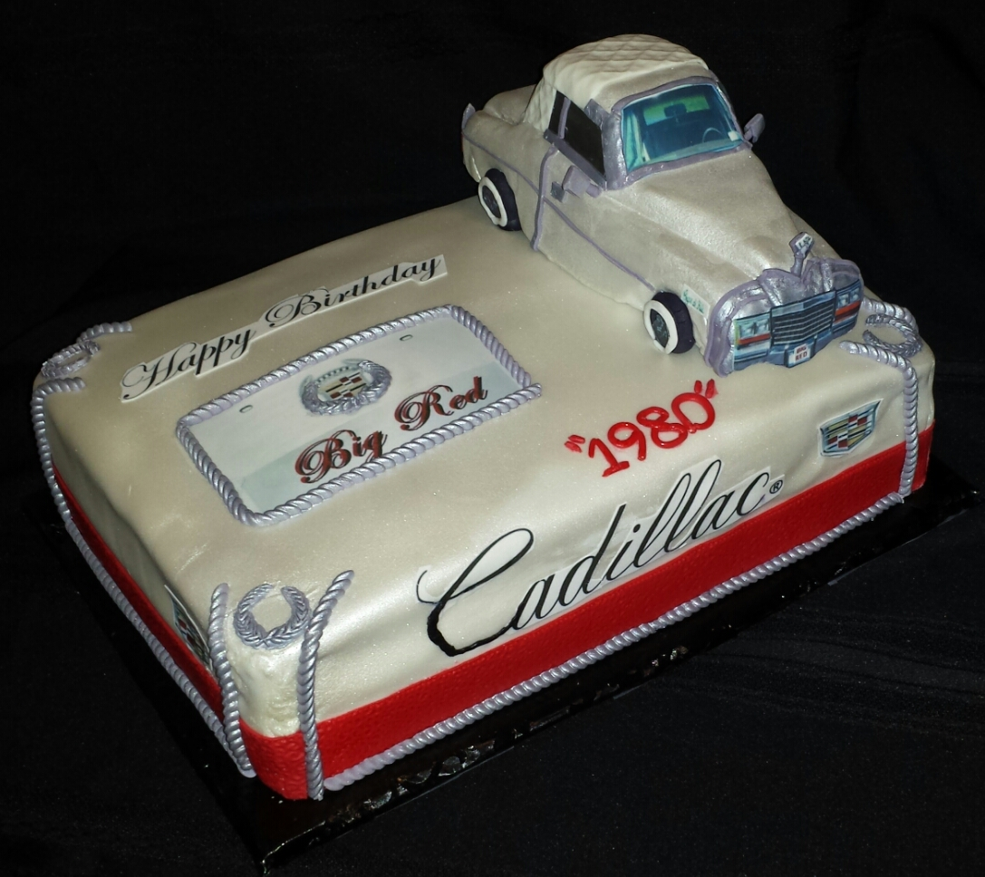 Cadillac Birthday Cake German White Chocolate