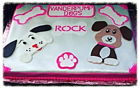 Vegan cake for Vanderpump Dogs Rescue